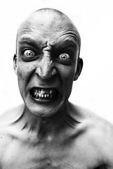 ANGRY MAN (Danielle_T) Tags: portrait blackandwhite man strange intense scary emotion sony angry scarey horror aplusphoto artofimages bestportraitsaoi