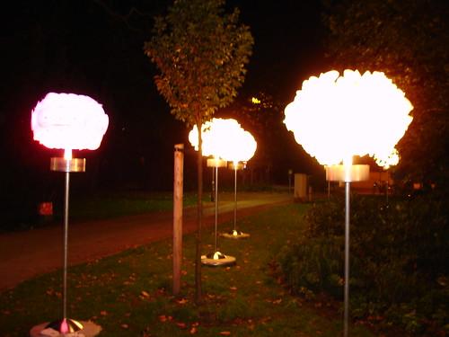 Lichtinstallation bei Fresch im Anlagenring. August 2005 -- frankfurt-fresch06858