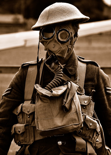 First World War Gas Mask. WW1 Gas-Mask Protection.