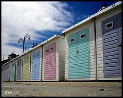 Neapolitan . . (flicker-flame831) Tags: summer colour english beach fantastic dorset beachhuts lymeregis