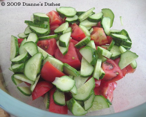 Gazpacho: Tomatoes and Cucumbers