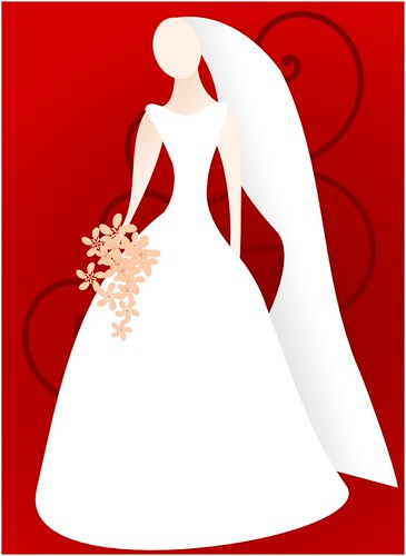 red bride inspired to create some clip art after someone was asking