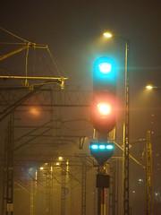 Semafor (magro_kr) Tags: light station night poland polska krakow rail railway kraków cracow signal semaphore cracovia noc cracovie krakau malopolska światło pkp małopolska kolej swiatlo semafor małopolskie malopolskie krakoff stacja