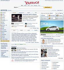Old Yahoo Homepage 2009