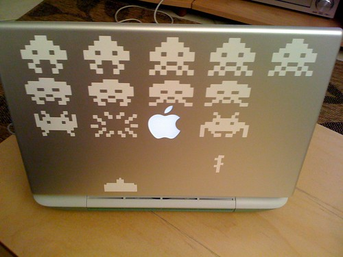 MacBook Pro Space Invaders back