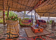 """ Before Dinner "" (Alfredo11) Tags: sea beach water mexico restaurant mar terrace playa explore palapa frontpage hdr terraza 5exp nikond300"