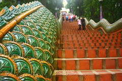 306  step (Pkamo@Tai) Tags: trip travel beautiful stairs thailand temple tour culture thai chiangmai moutain naka  doisutep puykamo