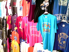 Souvenir shirts in Lindos