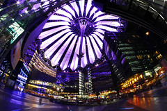 Sony Center Berlin Zentrum (MK~) Tags: berlin canon mall shopping eos angle sony wide 85mm center fisheye ultra walimex weitwinkel einkaufszentrum 50d samyang f35mm inmeinemcocktailistspinatoo