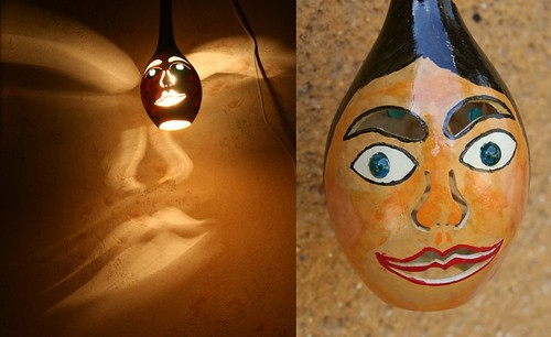 Romantic Lamps Made from Natural Gourds, Ceiling Lamp, Natural Handicraft, Handicraft, Homemade handicraft