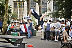 Chinatown jump (ctownjb) Tags: china park street new york city nyc columbus people ny les bench asian fun photography back kid dangerous jumping asia chinatown elizabeth manhattan candid air lowereastside chinese young flip gothamist exciting parkour flipping