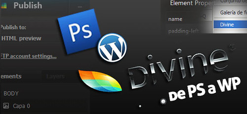 divine - Plugin para crear themes de WordPress en Photoshop