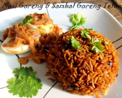 Nasi Goreng & Sambal Goreng Telur