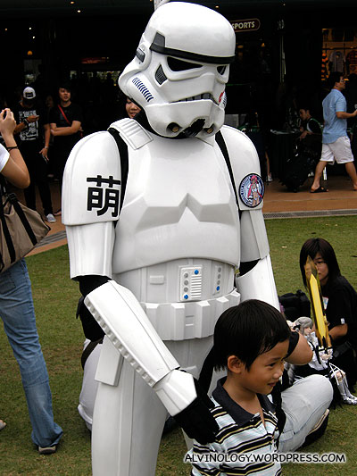 Stormtrooper with cutesy badges