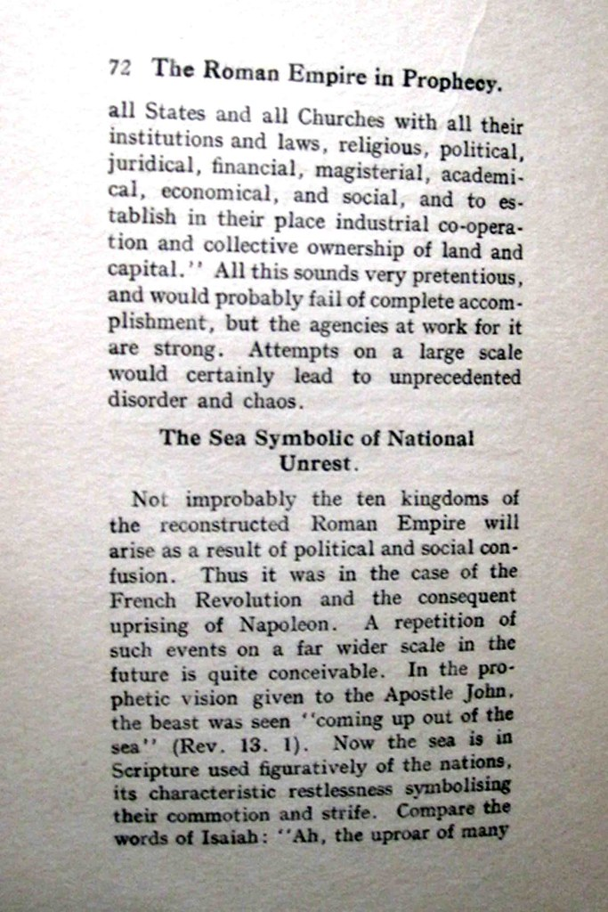 72 The Roman Empire in Prophecy - The Sea Symbol of National Unrest