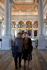 My mom and I in the Library of Congress, Washington, DC