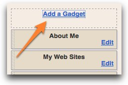Blogger :: Add a Gadget