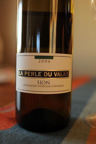 スイス、Sionの白ワイン
