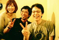 peace (troutfactory) Tags: friends film smile smiling sign japan happy 50mm peace voigtlander rangefinder   osaka analogue kansai nokton umeda   natura1600 bessat
