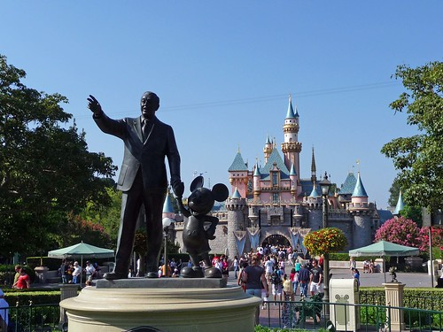 Walt, Mickey and Sleeping Beauty Castle
