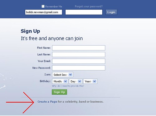 Welcome to Facebook!  Facebook