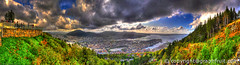 The Golden hour in Bergen (Graphfruit) Tags: city autumn sunset panorama storm norway clouds delete5 delete2 golden delete6 delete3 delete delete4 bergen