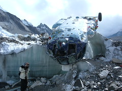 Fallen Russian Helicopter at Base Camp