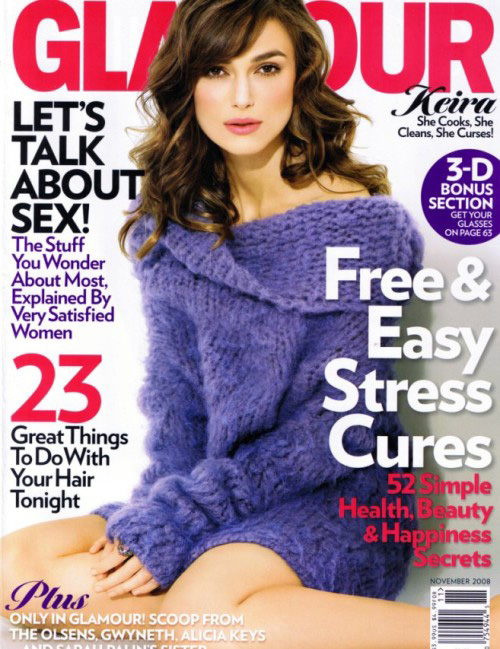 UK Actress Keira Knightley' Glamour Magazine November 2008 - beautiful girls