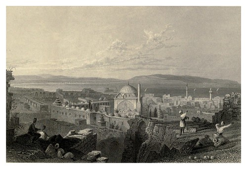 015-San Juan de Acre con el Monte Carmelo a lo lejos-Syria, the Holy Land, Asia Minor, etc 1840- Bartlett W. H