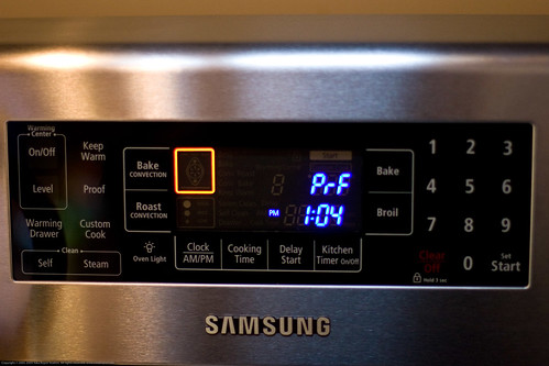 Samsung Range: proofing feature