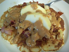 Stu's Apple Bacon Pancakes