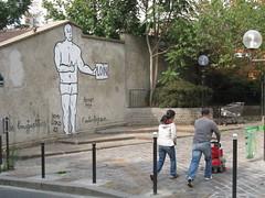 Zoo Project (tofz4u) Tags: street people streetart paris rue streeart artderue 75020 zooproject autostoppeur humanere