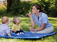 Infants & Teacher with Bubbles B