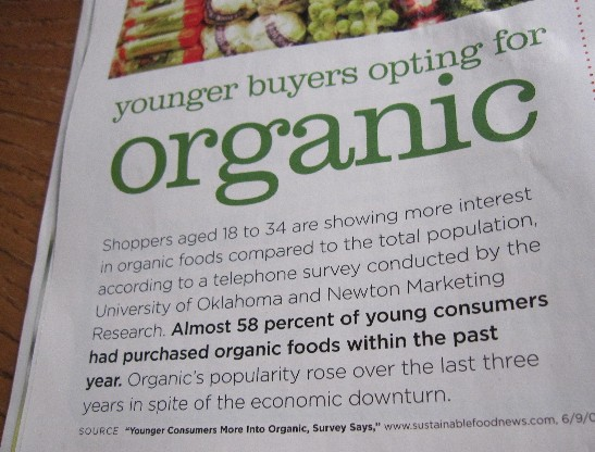 Be Young! Buy Organic!