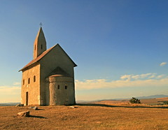 Draovce Church 3, Slovakia (johan.pipet) Tags: old blue autumn light sunset fab sky heritage hist