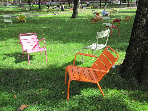 Cute chair project around Harvard Yard