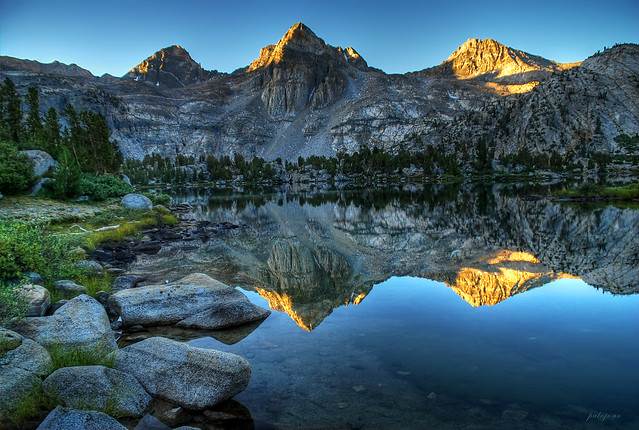 Sunrise reflections at Rae Lakes - Kings Canyon National Park