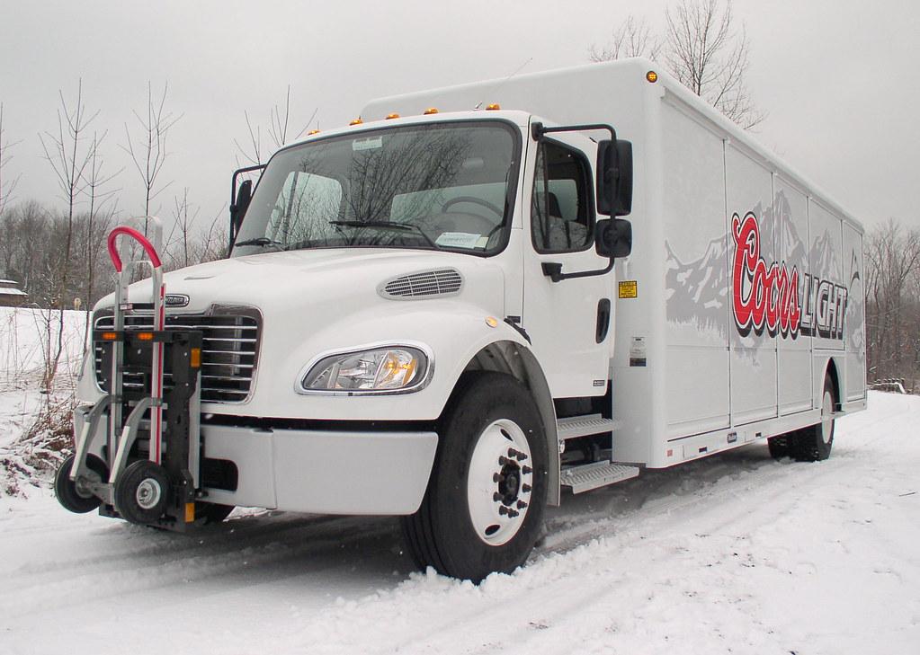 MillerCoors Coors Light Freightliner M2 beverage truck