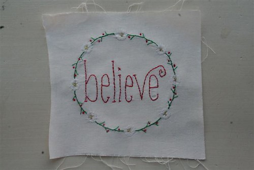 Christmas Wish Block 6 - Believe