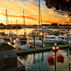 Sunset in the  Victoria  harbour (Nick Kenrick.) Tags: ocean city travel sea summer vacation holiday canada tourism landscape bay bc pacific harbour yacht peaceful canadian vancouverisland tranquil victoriabc nationalgeographic innerharbour zedzap