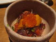Raku - Seafood and Bonito Gut pickled in salt