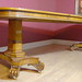 ENGLISH GEORGE III WALNUT DINING TABLE & SET QUEEN ANNE DINING CHAIRS
