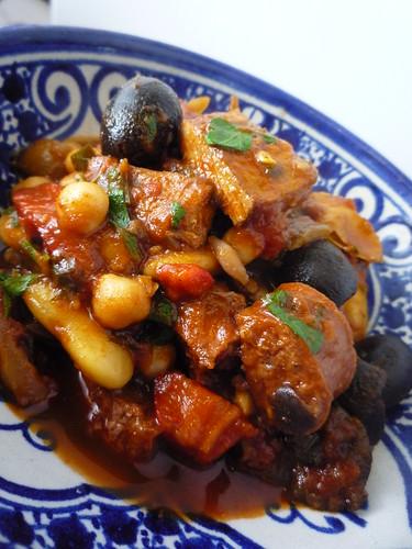 Pork , Chorizo and Bean Stew