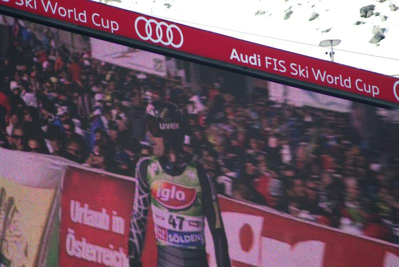 World Cup Solden - Warner on the big screen