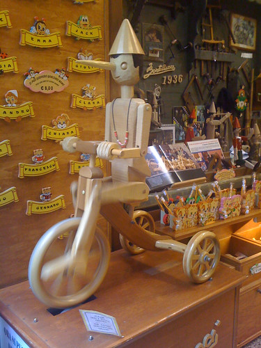 In Rome, even Pinocchio rides a bike