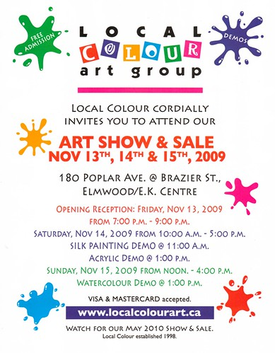 Local colour art flyer Nov. 2009