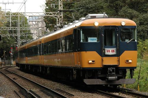 Kintetsu16000series in Kashiharajingu-mae〜Kashiharajingu-nishiguchi,Kashihara,Nara,Japan 2009/11/15