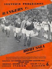 Rangers v Borussia Moenchengladbach 19601130 (tcbuzz) Tags: cup club germany scotland football european stadium glasgow rangers winners ibrox programme borussia moenchengladbach