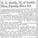 Ernest Smith obituary 1963