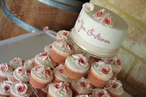 Rosey Posey Wedding Cakes